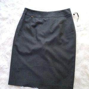 Calvin Klein Grey Pencil Skirt